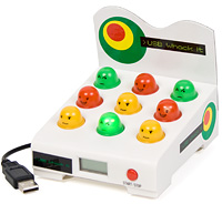 Bring classic arcade gaming to your desktop with this USB Whack it game. Bop the multi coloured