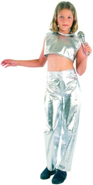 For Wannabe Pop Idols everywhere, a silver costume that simply shouts, `Rock Star,`