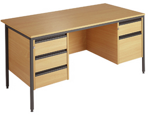 Value line rectangular H leg executive desk