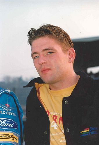 Jos Verstappen in casual Benetton clothing