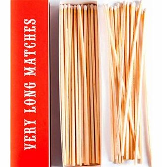 Very Long MatchesThis box of Very Long Matches is perfect for the house or for instances outside like BBQs and bonfires. These matches are 11 inches long so they give you more than enough time to light your multitude of candles or that stubborn wood