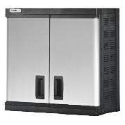 This Stanley W2 wall cabinet comes in a black/silver colour that features 1 single compartment. This