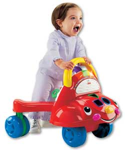 Grows from a walker to a ride-on and then a great learning activity car. Teaches numbers,