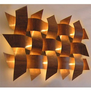 Wall Sconces That Give Off A Lot Of Light : Weave Wall Lights (Medium Copper) - review, compare prices, buy online