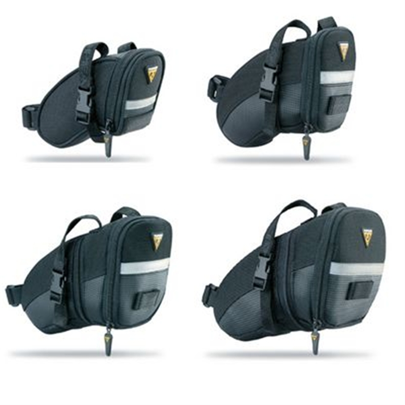 Aero shaped wedge pack with positive locking QR buckle and high strength straps. Large openings