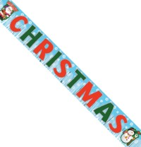 A large Christmas banner which will move in a breeze and make any Xmas event more festive.