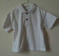 Ex-bhs white short sleeved polo shirt with 2 butto