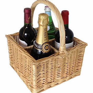 Unbranded Wicker Wine Basket: Four Bottle 3680C