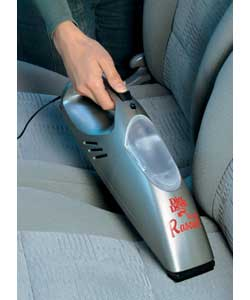 12V Car Vacuum Cleaner: Chrome and rubberised fini