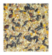 Woodland bird seed for garden feeding contains maize, oats, striped sunflower, white millet, wheat,