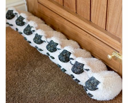 Woolly Sheep Draught ExcluderIf you love cute, cuddly sheep, then why not have a flock keeping draughts well and truly blocked out at the bottom of your door!The draught excluder is made using a collection of individual sheep, stitched together makin