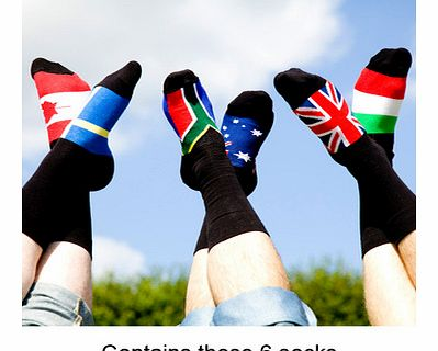 World Flag Odd Socks - Set of 6World Flag Odd Socks Set of 6. OK so you may not be an international jetsetter but at least your feet can fly around the world with the Set of Six World Flag Odd Socks. With the 6 funky odd flag socks that you can mix a