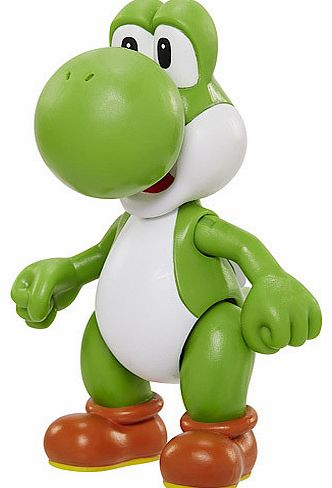 Hitch a ride on World of Nintendoandrsquo;s Yoshi. Marioandrsquo;s loyal green dinosaur has joined him on many a video game adventure. Heandrsquo;s also eaten a bad guy or two along the way! This 10cm Nintendo figure is poseable and comes with a myst