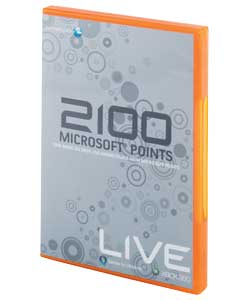 2100 points can be used to download content from Xbox Live marketplace.The user must have an Xbox Li