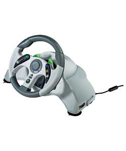 A compact version of the Xbox 360 Wheel, the X360 MicroCon wheel is powerful and realistic. The Micr