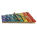 31cm long. Wooden Xylophone plays 8 notes. Encoura