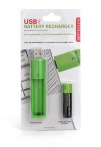 usb Battery Charger AA Pair