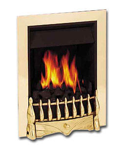 Valor Harmony Inset Gas Brass Fire