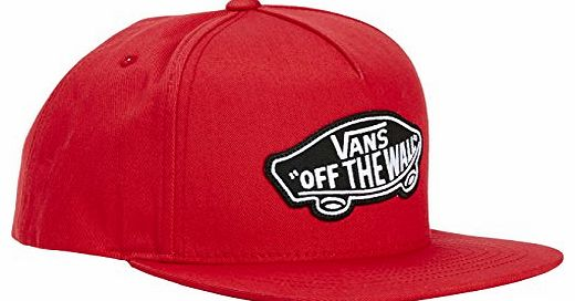 Mens Classic Patch Snapback Baseball Cap, Red (Red/Black), One Size