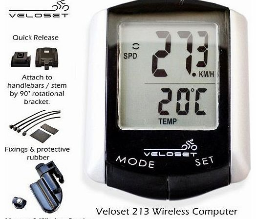 VS-213 10 Function Wireless Cycle Computer Bike Bicycle Speedo