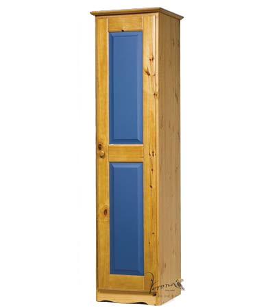 Blue 1 Door Narrow Wardrobe
