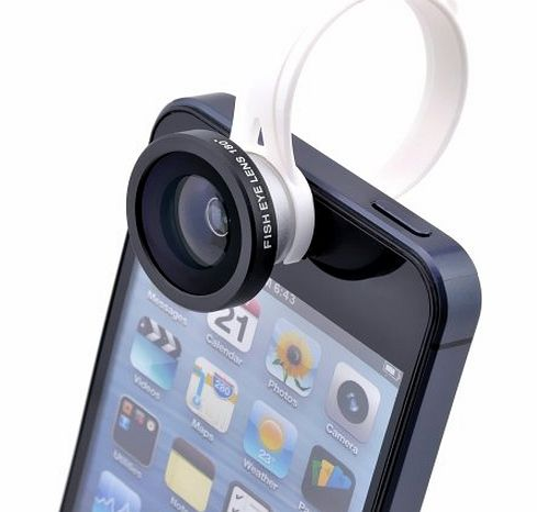 Perfect Match 180¡ãDetachable Clip Fish Eye Fisheye Lens Camera for Apple iPhone 3GS 4 4S 5 5S iPod touch 4th 5th iPad 1 2 3 4 iPad Mini Samsung Galaxy S3 Note 2