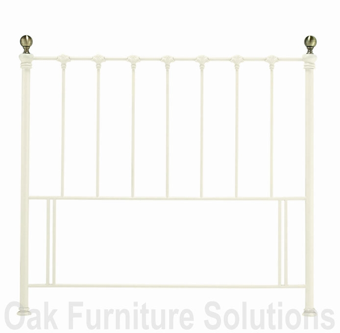 Antique White/Antique Brass Headboard