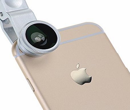 Silver Universal 3 in 1 Fisheye Lens + Wide Angle + Macro Lens Clip Camera Photo Kit For iPhone 6 iPhone 6 Plus iPhone 5 5S 5C Samsung Galaxy S5 S4 Note 4 3 2 HTC One M7 Sony Experia Z1 Z2 Z3