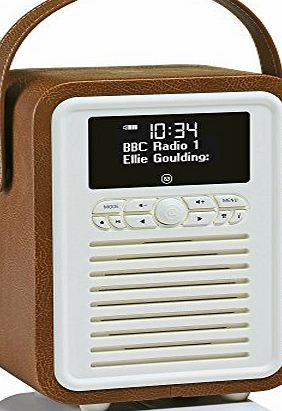 Retro Mini DAB+ Radio and Bluetooth Speaker - Brown - Digital DAB & DAB+ Radio Reception or Analogue FM Radio Reception - Bluetooth Connection for Android, Blackberry, iOS, Windows or a