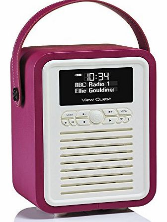 Retro Mini DAB+ Radio and Bluetooth Speaker - Deep Purple - Digital DAB & DAB+ Radio Reception or Analogue FM Radio Reception - Bluetooth Connection for Android, Blackberry, iOS, Window