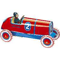 Vintage Tin Racing Car