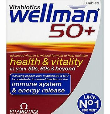 Wellman 50+ 30 One-a-Day Tablets