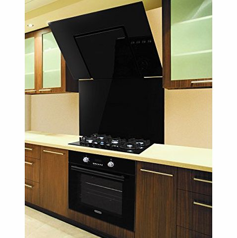 Vitriano New Appliance Package, Multi-Function Oven, Gas Hob Wiith Bevelled Edges, Designer Angled Black Glass Hood and Splashback