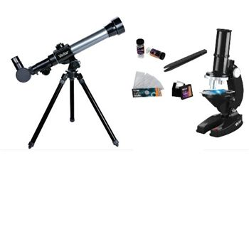 - Refractor Telescope and Microscope Set