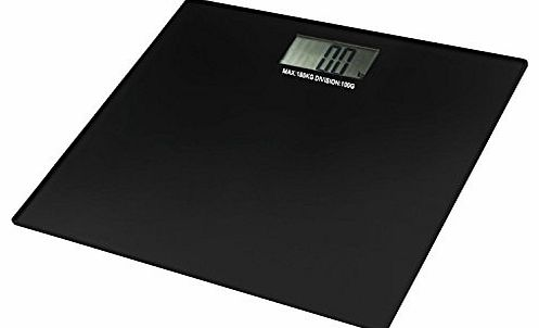 Square Black Glass Digital Electronic LCD Bathroom Platform Weighing Body Scales Lose Fat