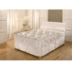 Belgravia white double beds for White double divan bed