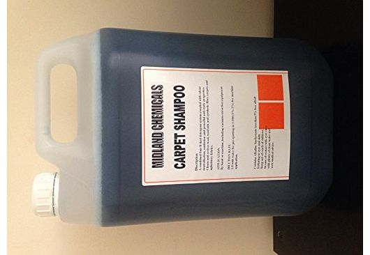 5 litres of super concentrated carpet shampoo for hand or machine use, suitable for all machines, bissell, vax, karcher....