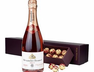 Pink Champagne & Truffles Gift Set