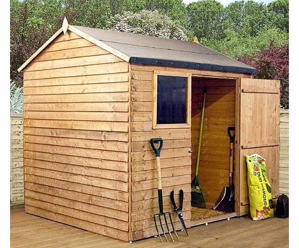 Waltons 8ft X 6ft Reverse Overlap Apex Wooden Storage Shed