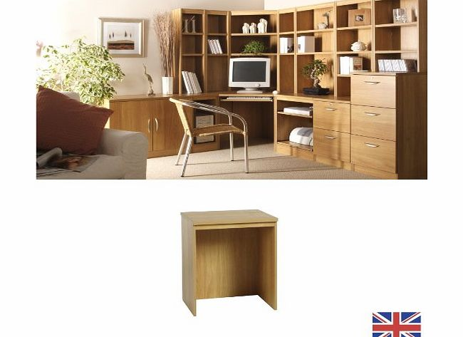 Home Office Furniture - Fully Assembled - Desk Link - Warm Oak - Cable Port - Wood Effect... WE ALSO MAKE: computer workstation trolley bookcase shelf book shelves shelving accessories IDEAL FOR: sett
