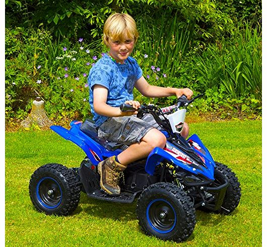 Extreme Warrior ATV 800W Kids Electric Battery Quad Bike Ride On (Blue)