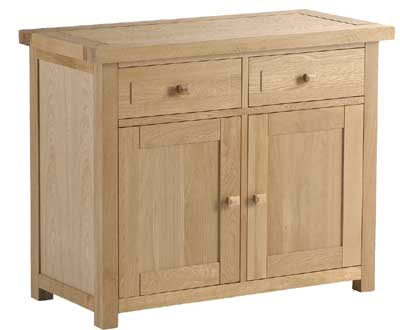 OAK SIDEBOARD DOUBLE WITH 2 DRAWERS 2