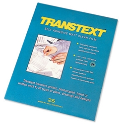 Transtext Clear Self Adhesive Film 25 Sheets