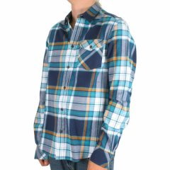 Mens Wesc Abdon Flannel Shirt Harbour Blue