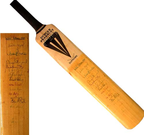 Indies fully signed bat - 1984 Lord` test v England