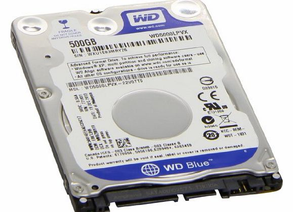 WD 500GB 2.5 inch SATA Internal Hard Drive - Blue