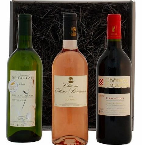 Trois Couleurs - A French Red, White and Rosé Wine Selection Box