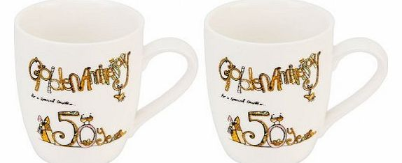 50th Anniversary Mugs for a special couple - ``Golden Anniversary`` gift set