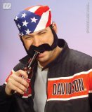 BIKERS SIDEBURNS and MOUSTACHE - FANCY DRESS ACCESSORIES