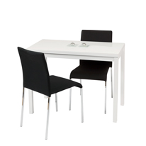 Manitoba Dining Set with Black Chairs